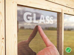 זכוכית איכותית לחלון מחסן גינה