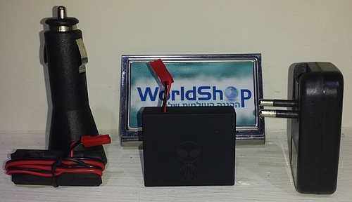 מכשיר האזנה עם גלאי תזוזה ורעש עם אזעקה סלולרית