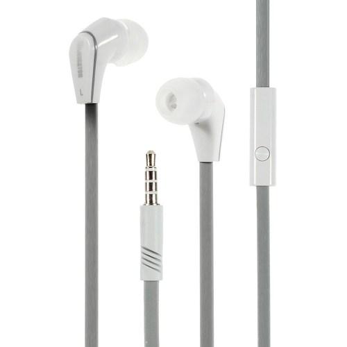 אוזניות כבל שטוח זהב JM-12 לאייפון iPhone סמסונג Samsung עם מיקרופון מבית Langston