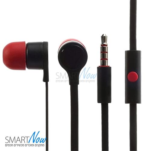 אוזניות מקוריות לטלפון סלולרי HTC One M7 801e בצבע אדום / שחור