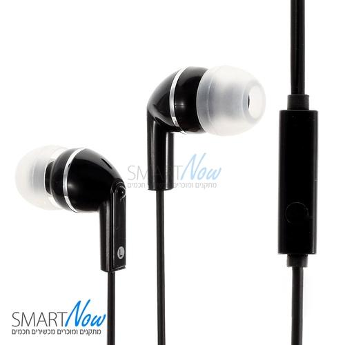 אוזניות סטריאו איכותיות עם מיקרופון וכפתורי שליטה בצבע שחור מבית Huawei