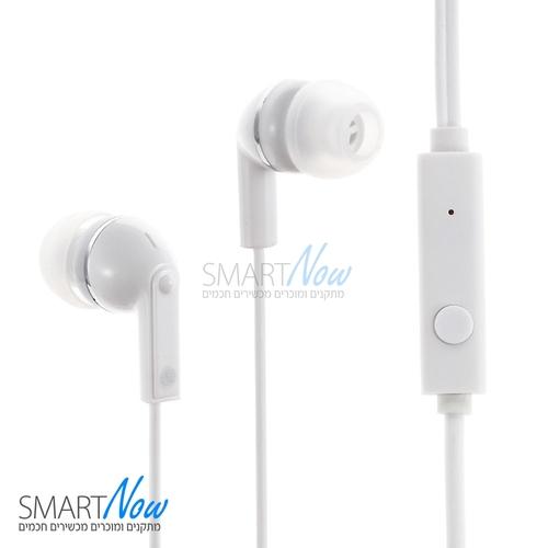 אוזניות סטריאו איכותיות עם מיקרופון וכפתורי שליטה בצבע לבן מבית Huawei